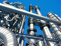 Tubes of factory. In the sky Royalty Free Stock Photo
