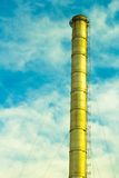 Tubes of factory in the sky. Stock Photography