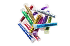 Tubes of Glitters Stock Image