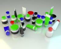 Tubes and jars Stock Photos
