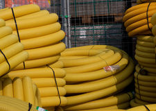 Tubes jaunes Image libre de droits