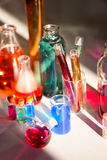 Tubes in the laboratory,  soft focus Royalty Free Stock Photo