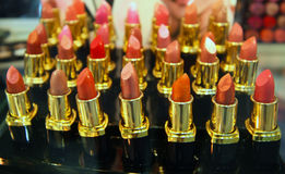 Tubes of lipstick Stock Images