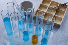 Tubes with liquids Royalty Free Stock Photos