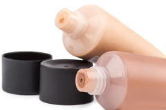 Tubes with make up liquid foundation Royalty Free Stock Photos