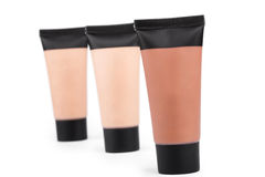 Tubes with make up liquid foundation Stock Photography
