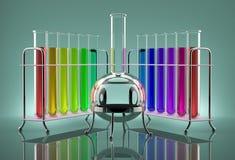 Tubes multicolores Images libres de droits