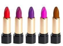 Tubes Of Different Color Lipstick Stock Photo