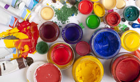 Tubes of paint Stock Photography