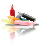 Tubes with a paint Royalty Free Stock Photo