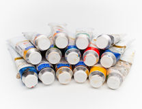 Tubes of paint Royalty Free Stock Image