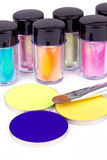 Tubes with professional colour pigment Stock Image