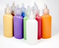 tubes réglés de peinture en verre de deco Photo libre de droits