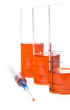 Tubes  and syringe Stock Image