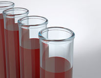 Tubes test with blood samples Stock Photos