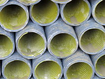 Tubes used to lay the conduits of electricity. Underground royalty free stock photos