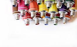 Tubes vibrants de peinture - pièce pour le texte Photo libre de droits