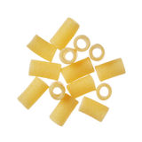 Tubetti dry pasta isolated on a white background Royalty Free Stock Photos