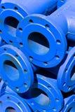 Tubi blu del ferro Fotografia Stock Libera da Diritti