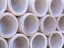 Tubi concreti di drenaggio Immagine Stock Libera da Diritti