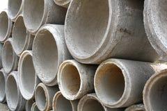Tubi concreti di drenaggio Immagini Stock Libere da Diritti