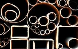 Tubi d'acciaio Fotografie Stock Libere da Diritti