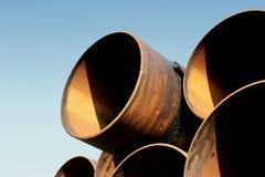 Tubi d'acciaio arrugginiti Fotografie Stock