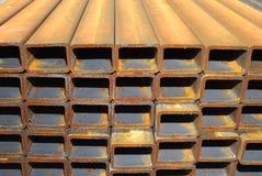 Tubi d'acciaio di rettangolo Fotografia Stock