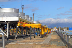 Tubi d'acciaio gialli Immagine Stock Libera da Diritti
