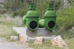 Tubi del bacino idrico fotografia stock