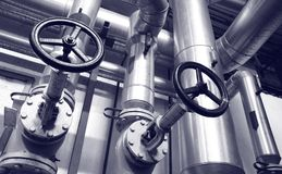 Tubi del gas e del petrolio di industria Immagini Stock Libere da Diritti