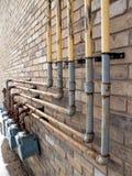 Tubi del gas naturale fotografie stock libere da diritti