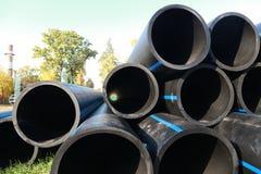 Tubi del grande diametro Fotografia Stock Libera da Diritti