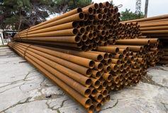 Tubi del metallo Fotografie Stock Libere da Diritti