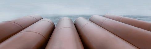 Tubi del metallo con ruggine immagine stock libera da diritti