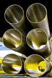 Tubi del metallo di vista di conclusione Fotografia Stock