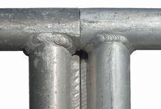 Tubi del metallo saldato Immagini Stock