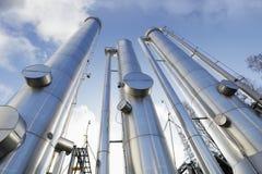 Tubi del petrolio, del gas e di combustibile Immagini Stock