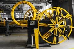 Tubi del PVC di fabbricazione Fotografia Stock