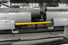 Tubi del PVC di fabbricazione Immagine Stock