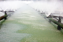 Tubi del sistema di trattamento di acque luride Immagine Stock