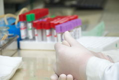 Tubi del test medicale Immagini Stock
