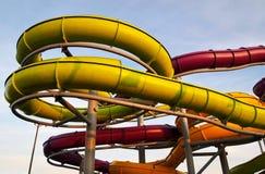 Tubi dell'acquascivolo Fotografia Stock