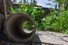 Tubi dell'amianto Fotografie Stock Libere da Diritti