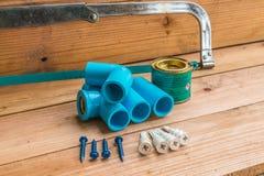 Tubi dell'impianto idraulico fotografia stock