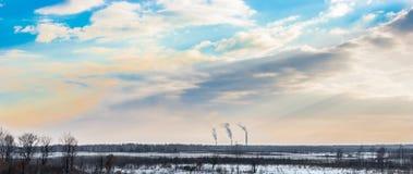 Tubi della centrale elettrica Immagini Stock Libere da Diritti