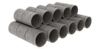 Tubi della costruzione Fotografia Stock