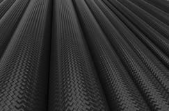 Tubi della fibra del carbonio Immagine Stock