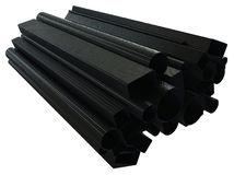 Tubi della fibra del carbonio Fotografie Stock Libere da Diritti