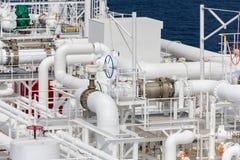 Tubi della nave di LNG Immagine Stock Libera da Diritti